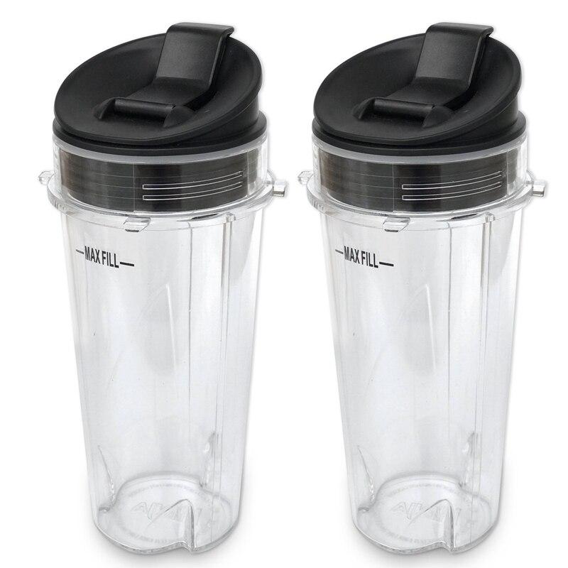 Запчасти для авто для Nutri Блендер с ниндзя 2 шт 16 унций одинарный служить бумажные кофейные чашки и крышки, пригодный для ниндзя BL770 BL780 BL660 блендеры