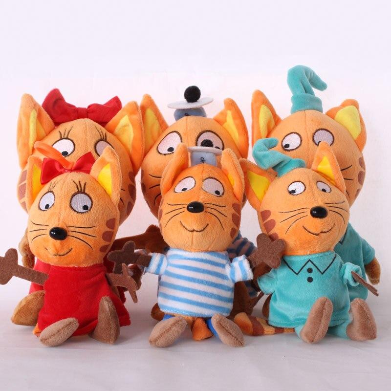 New Russia Happy Kitten Stuffed Cat Plush Toys Cartoon Animals Soft Doll Kids Infants Gifts 20CM Cre