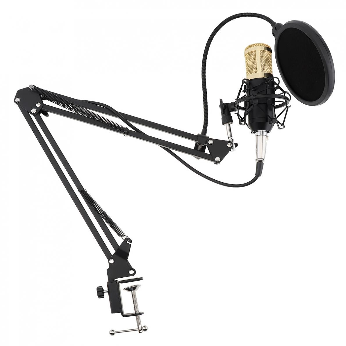 BM-800 Live Microphone with Phantom Power Supply Karaoke Condenser Microphone Suit Kits for Computer / Recording / Studio enlarge