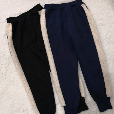 Thickened Ankle-Tied Harem Pants Women's Autumn and Winter Korean Lamb
