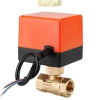 dn15 dn20 dn25 motorized electric 2 way brass ball valve dn20 ac 220v 2 way 3 wire with actuator cable for gas water oil