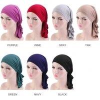 10pcslot cotton chemo cap for women soft comfortable hair loss cancer wear headwrap ladies hair loss breathable hat bandanas