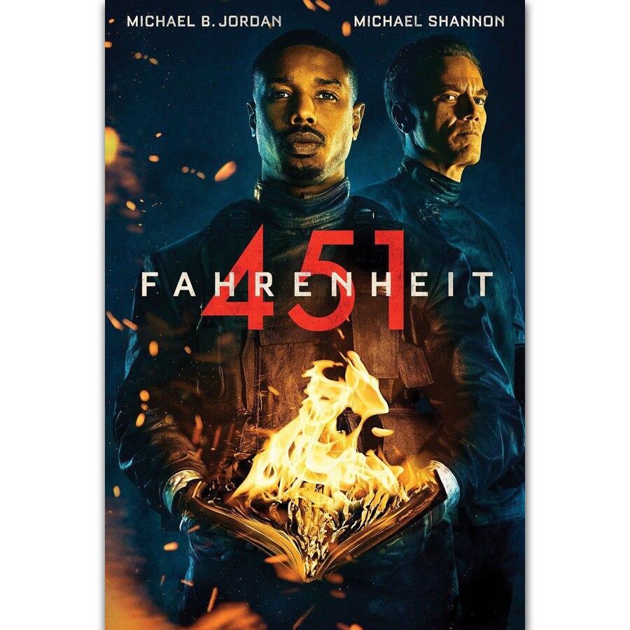 Fahrenheit 451 Hot Novo Filme 2018 Michael Shannon CARTAZ SEDA Parede pintura 24x36inch