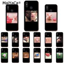 MaiYaCa De Bande Dessinée Belle Rose Cochon Étui de Téléphone pour Xiaomi Redmi8 4X 6A 9 8A Redmi 5 5Plus Note7 8Pro 7A 6A 9 9pro