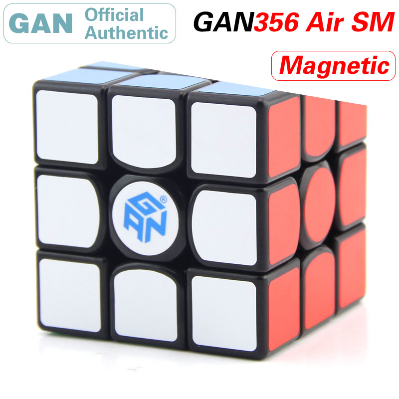 gan 365 air sm 3x3x3 speed cube black color gan air sm magnetic 3x3x3 puzzle speed cube educational learning toys for children GAN 356 Air S M Magnetic 3x3x3 Magic Cube 3x3 GAN356/356Air SM Professional Speed Cube Puzzle Antistress Toys For Children