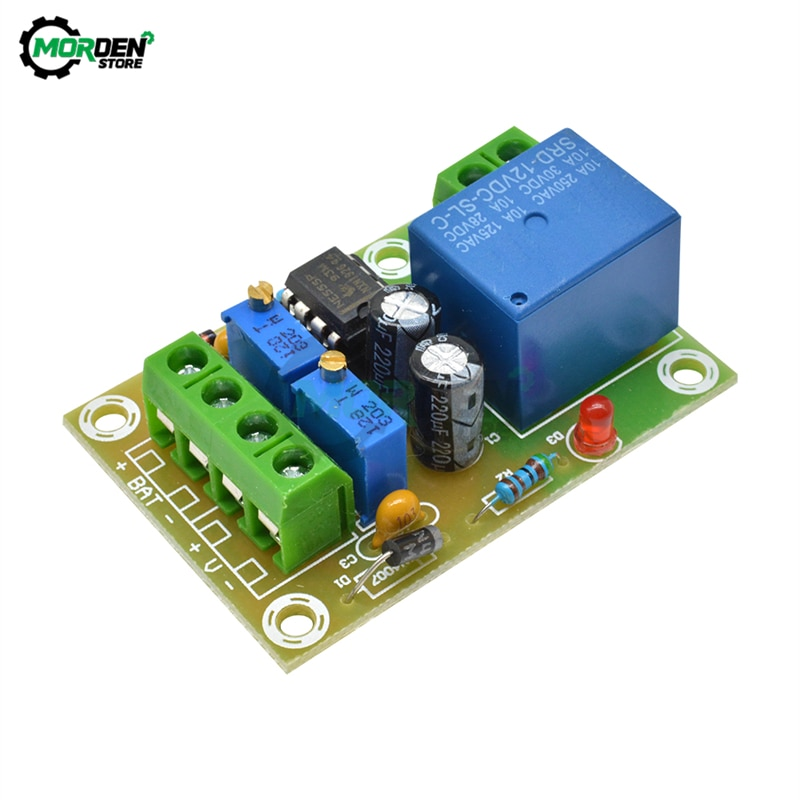 Placa de Control de carga de batería de 12V XH-M601 Panel de Control de energía de cargador inteligente Módulo de carga automática 12,4 V 14,8 V