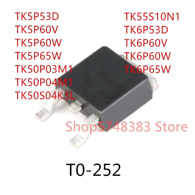 10 pièces TK5P53D TK5P60V TK5P60W TK5P65W TK50P03M1 TK50P04M1 TK50S04K3L TK55S10N1 TK6P53D TK6P60V TK6P60W TK6P65W à-252