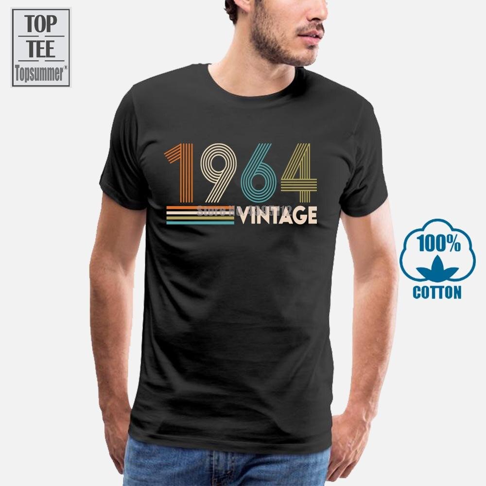 Vintage 1964 T-Shirt Boy T-Shirts With Print Big Sizes Men'S T-Shirt Hip Hop T-Shirts Women T Shirt Boys T Shirts