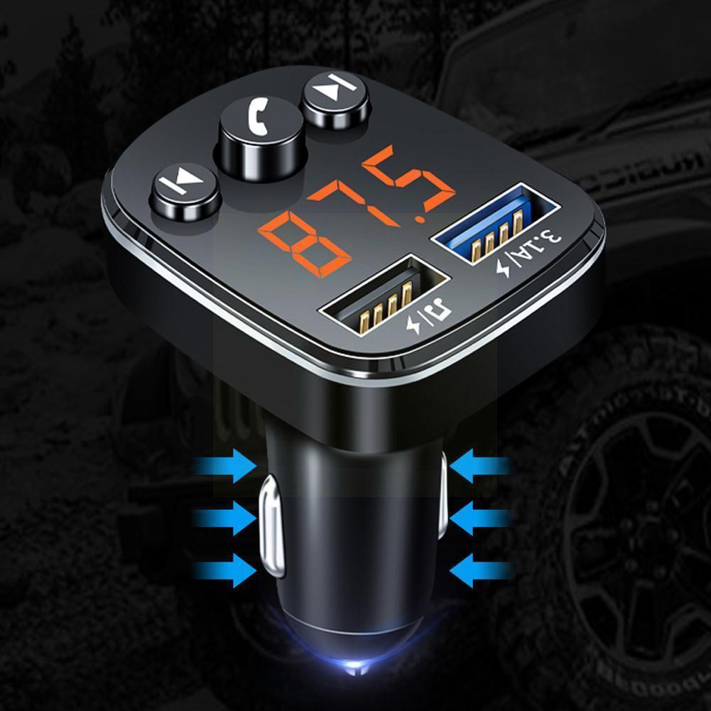 Coche MP3 jugador Bluetooth 5,0 receptor coche inalámbrico música disco Dual USB...
