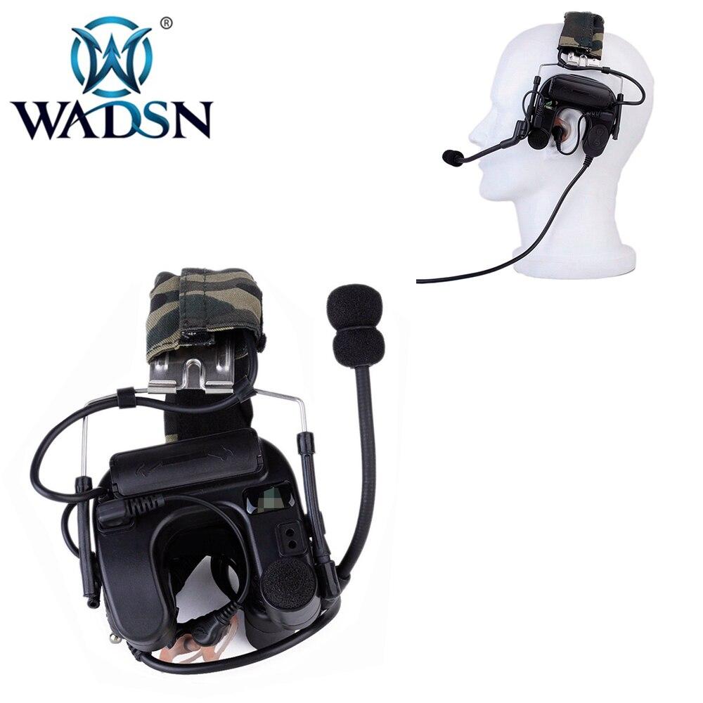 WADSN Airsoft наушники Comtac IV наушники-вкладыши с шумоподавлением авиационная тактическая гарнитура Военная вилка подходит для всех PTT Walkie Talkie Z038