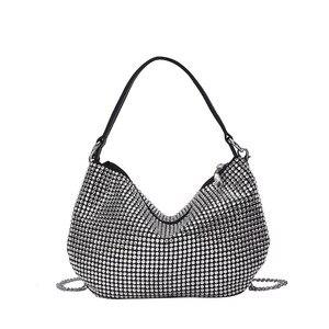New Women's Summer Bag Female Korean Bright Diamond Flash Small Handbag Shoulder Bag Luxury Ladies Handbags Women Bags Designer