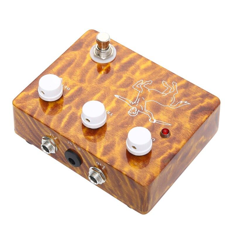 Klon-Pedal De caja De aluminio hecho a mano, efectos De Guitarra analógica,...