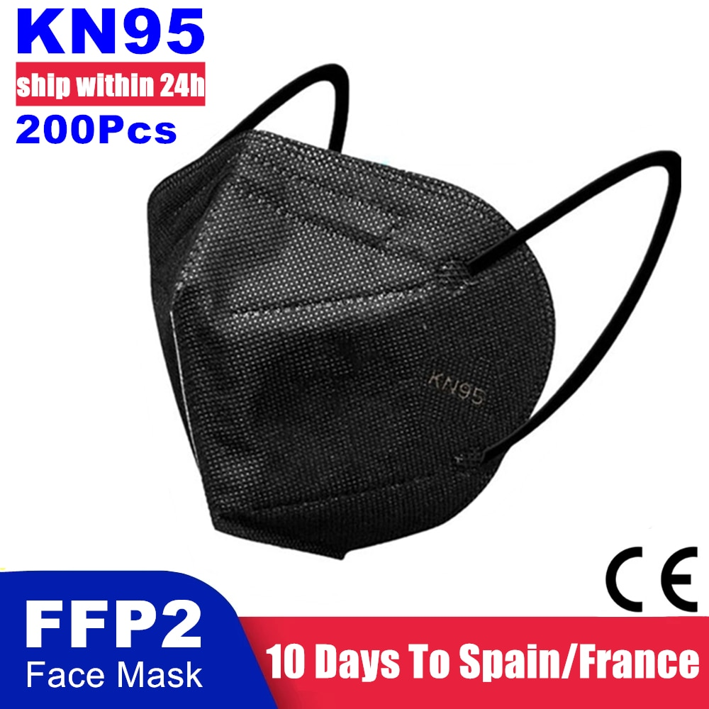 200/100PCS KN95 Mascarillas CE FFP2 Facial Face Mask 5 Layers Filter Protective Health Care Breathab