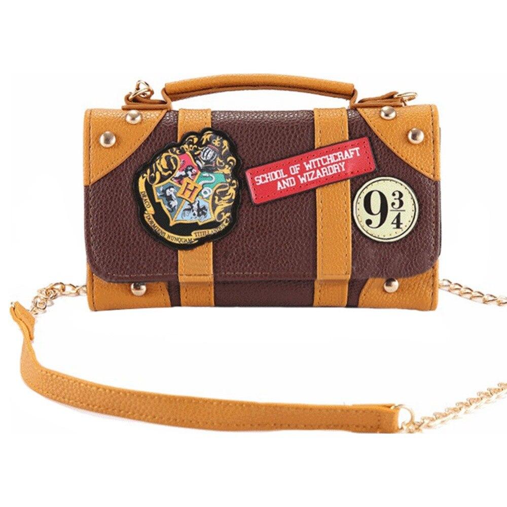 Harri Potter poudlard sac à main PU Mini sac à bandoulière portefeuille de noël pochette sac à main cadeau de noël Costume Cosplay accessoire