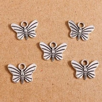 40pcs 1612mm vintage silver color alloy butterfly charms for jewelry making diy earrings pendants necklaces handmade craft gift