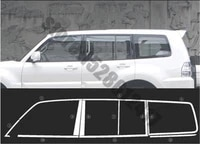 for mitsubishi pajero v73 v93 v97 2007 2019 car styling stainless steel door window trims window trim cover