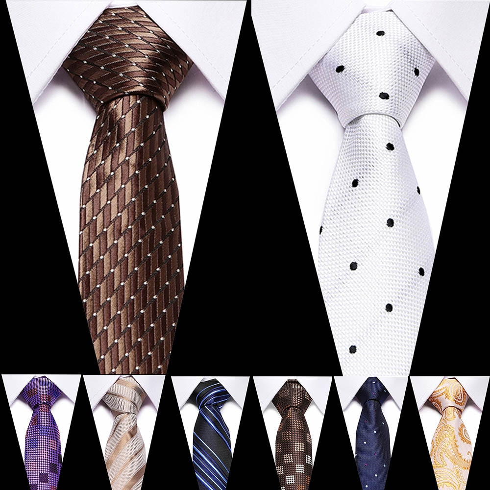 51 Colors Classic 7.5cm Tie for Men 100% Silk Tie Luxury Striped Slim Ties for Men Suit Cravat Wedding Party Gift For Men tie недорого