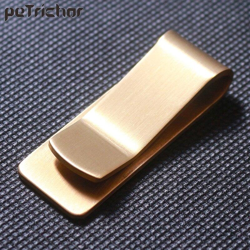 Hohe Qualität Edelstahl Metall Geld Clip Mode Einfache Gold Silber Dollar Bargeld Clamp Halter Brieftasche für Männer