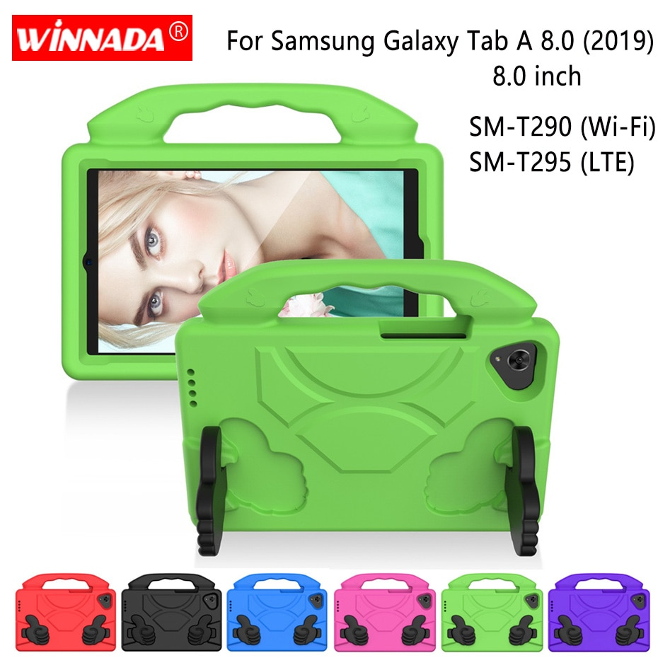 AliExpress - For Samsung SM-T290 case 8.0 inch T290 T295 EVA shockproof tablet Stand Coque Cover for Samsung Galaxy Tab A 8.0 (2019) SM-T295