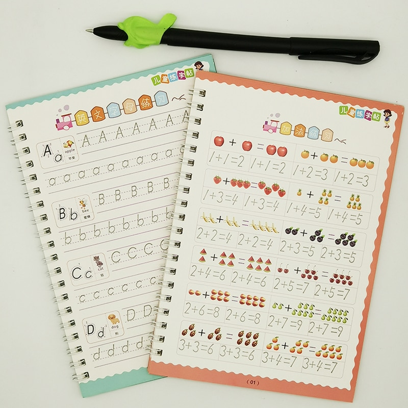 2 Exercise Books Practice Characters Art Book Baby Copybook For Handwriting Calligraphy Writing  Lettering Kid Learning Book enlarge