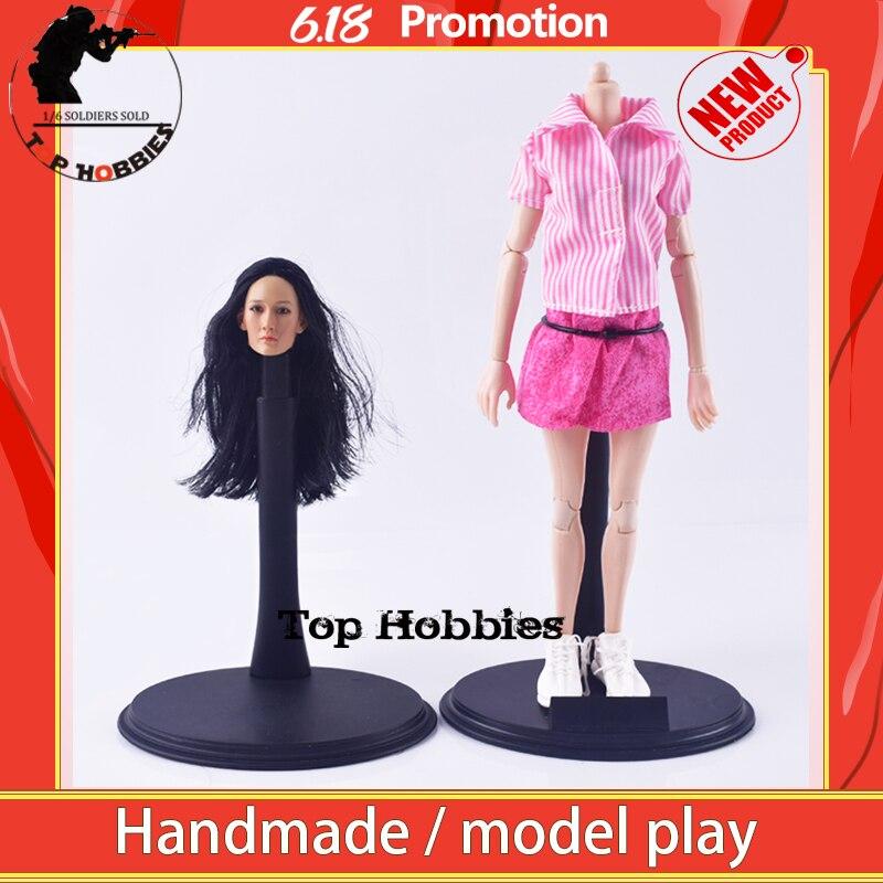 "KUMIK 044 1/6 escultura de cabeza femenina a escala/camisa rosa Mini falda FG014, zapatos casuales blancos de encaje combina con zapatos de 12 "", juguete técnico, figura corporal"