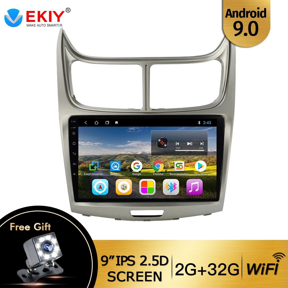 """EKIY 9 """"Android 9.0 araba radyo Chevy Chevrolet yeni yelken 2015 2016 2din dokunmatik ekran araç DVD oynatıcı kafa ünitesi multimedya oynatıcı GPS"""