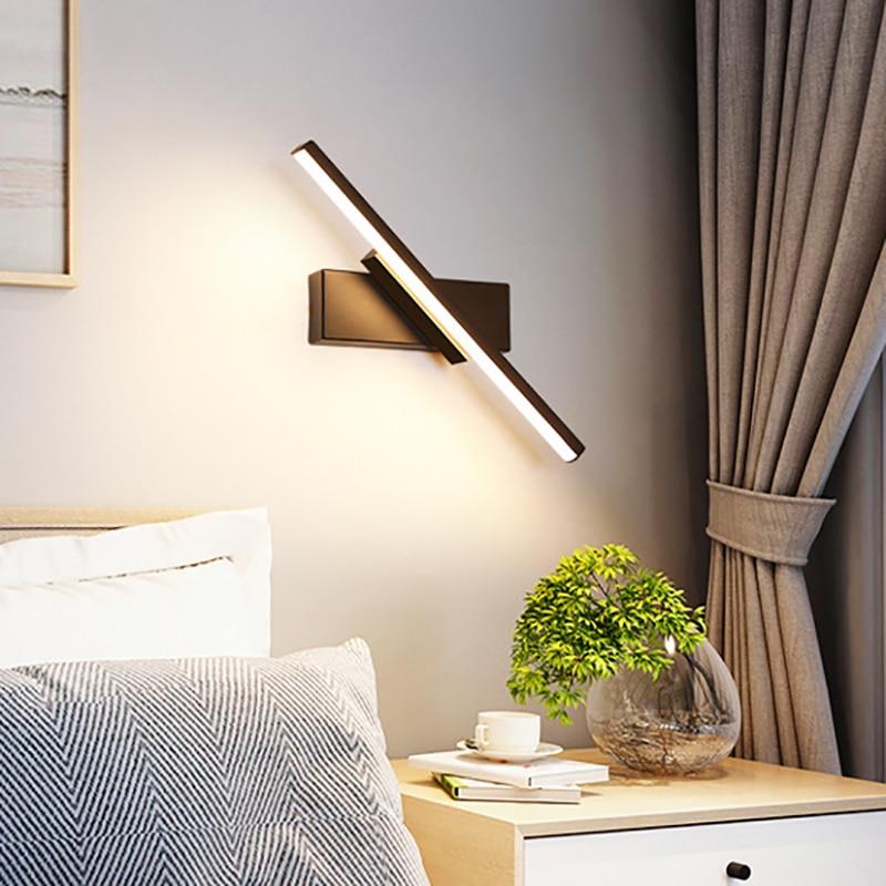 مصباح جداري LED دوار بتصميم إسكندنافي حديث وبسيط ، مثالي لغرفة النوم أو السلالم أو غرفة المعيشة.