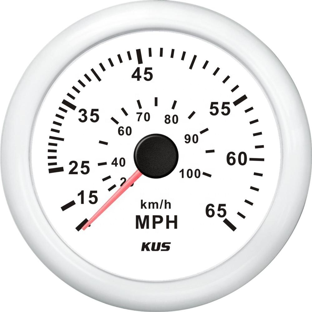 Original KUS 85mm MPH Speedometer Gauge 0-65MPH 12V 24V For Marine Boat Yacht  - buy with discount