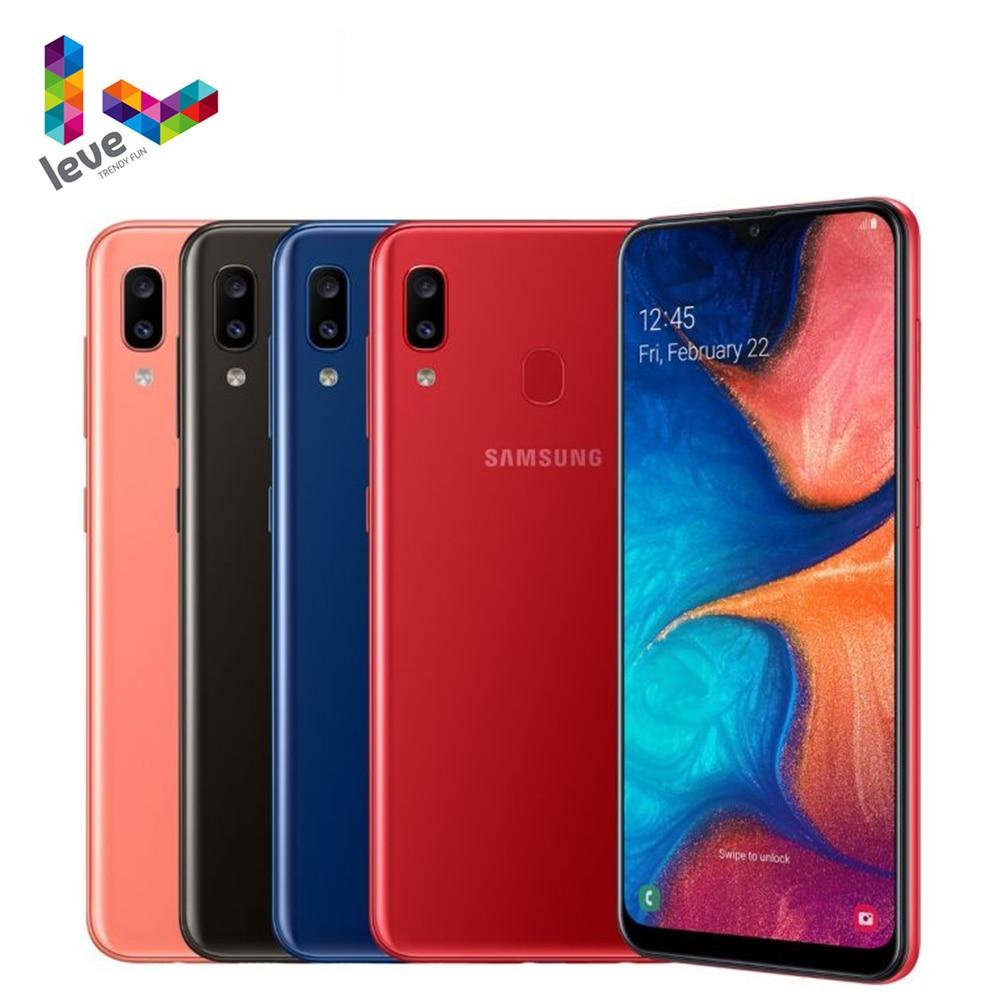 Перейти на Алиэкспресс и купить Samsung Galaxy A20 A205U A205F/DS 1SIM & 2SIM разблокирован мобильный телефон 6,4 дюймпикселей, 3 Гб оперативной памяти Octa Core 2 камеры 13MP 4 аппарат не привязан к операт...