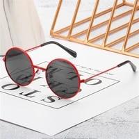metal round children sunglasses retro brand designer vintage kid fashion sunglass gradient boys girls sun glasses uv400