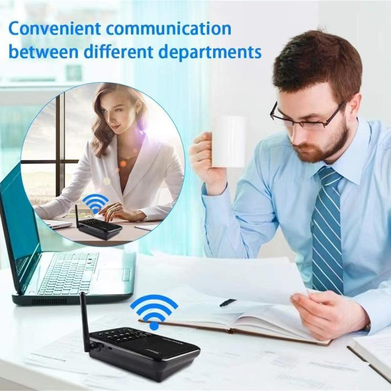 Wireless Apartment Intercom System for Home Business Office Room 2 way Communication Wireless Audio Intercom Indoor enlarge