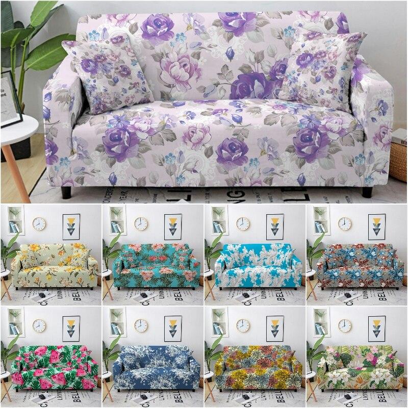 3D Цветочный Эластичный чехол для углового дивана, эластичный моющийся чехол для дивана, секционный чехол для дивана, защитный чехол для меб... чехол