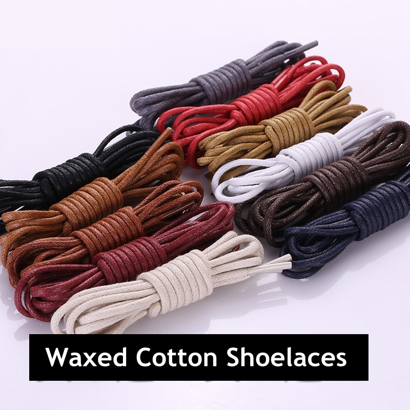 AliExpress - 1 Pair Cotton Waxed Shoelaces Leather Waterproof Round Shoe laces Martin Boots Shoelace Shoestring Length 80/100/120/140CM P2