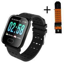 Montre intelligente A6 hommes femmes moniteur de fréquence cardiaque pression artérielle étanche Bracelet intelligent Smartwatch horloge pour téléphones IOS Android