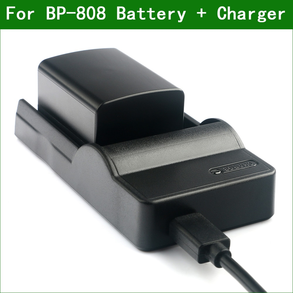 LANFULANG BP 808 batería y cargador Kit para Canon BP-807 BP-808 BP-809 FS305 FS306 FS307 FS36 FS37 FS406 FS46 XA10 HF100 HFS10