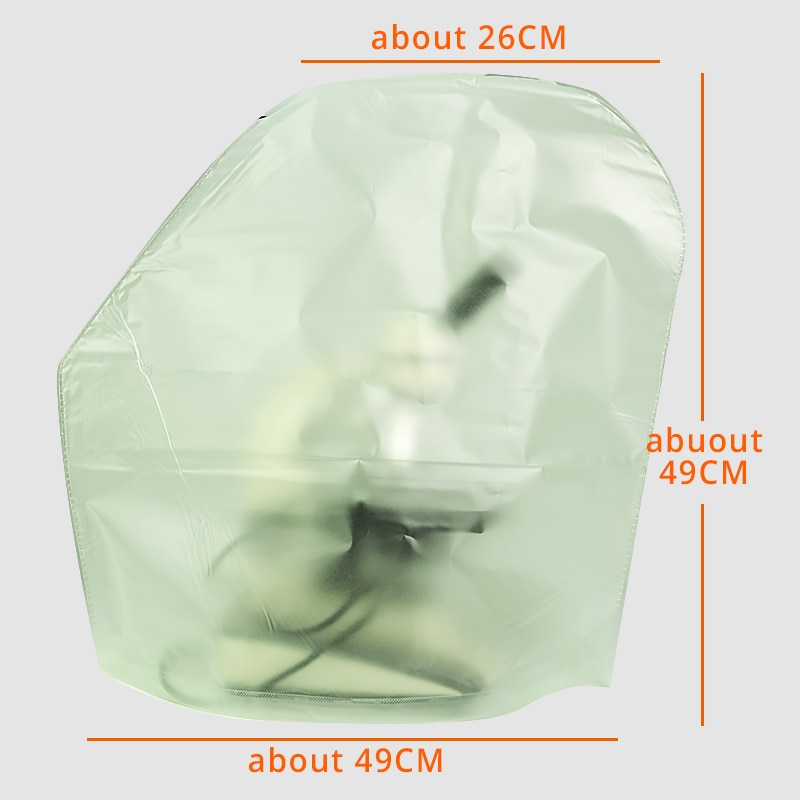 Gran tamaño 49*26*49CM PVC microscopio cubierta de polvo para soporte Boom microscopio articulado