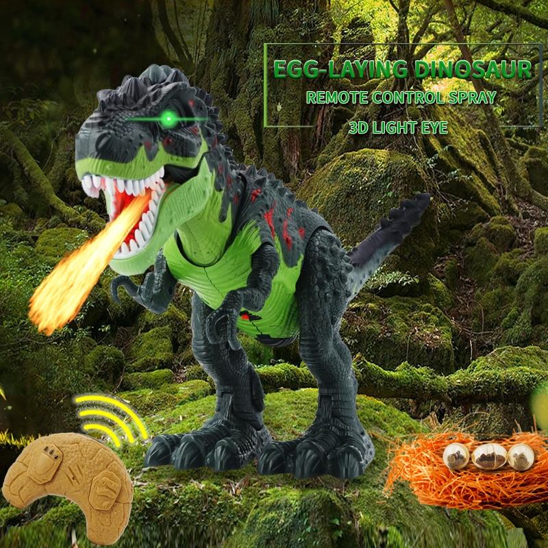 Jouet danimaux dinosaure, tyrannosaure Rex, télécommande, sons, dinosaure, marche électrique, jouet déclairage musical, Spray lumineux