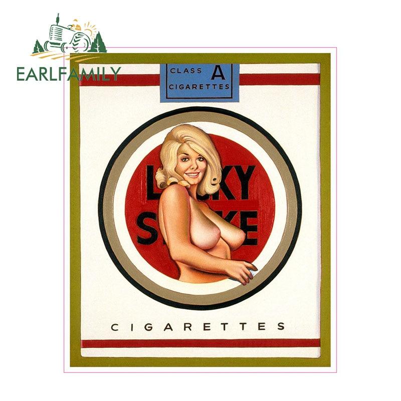 EARLFAMILY 13 см x 11 см Lucky Strike сигарета булавка девушка наклейка Забавный мультфильм автомобиль Стайлинг стикер мотоцикл автомобиль наклейка аксессуары