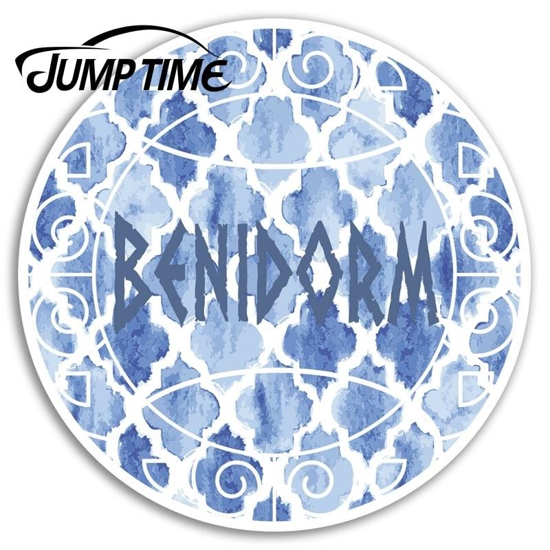 Jump Time Benidorm Spain Vinyl Stickers Travel Sticker Laptop Luggage Decal Truck Window Car Wrap Car Accessories