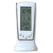 1 pièces réveil sans fil horloge numérique étudiant Mini Led bureau muet avec rétro-éclairage grand affichage heure température Date semaine