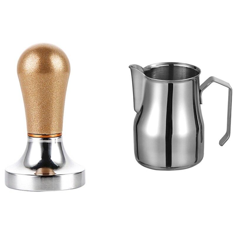 1 قطعة 500 مللي الحليب مزبد إبريق سميكة القهوة الحليب رغوة و 1 قطعة 57.5 مللي متر أدوات باريستا القهوة مسحوق المطرقة