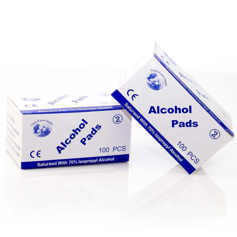 100 Pcs per box Alcohol Wet Wipe Disposable Disinfection Prep Swap Pad Antiseptic Skin Cleaning Care Jewelry Phone Clean Wipe
