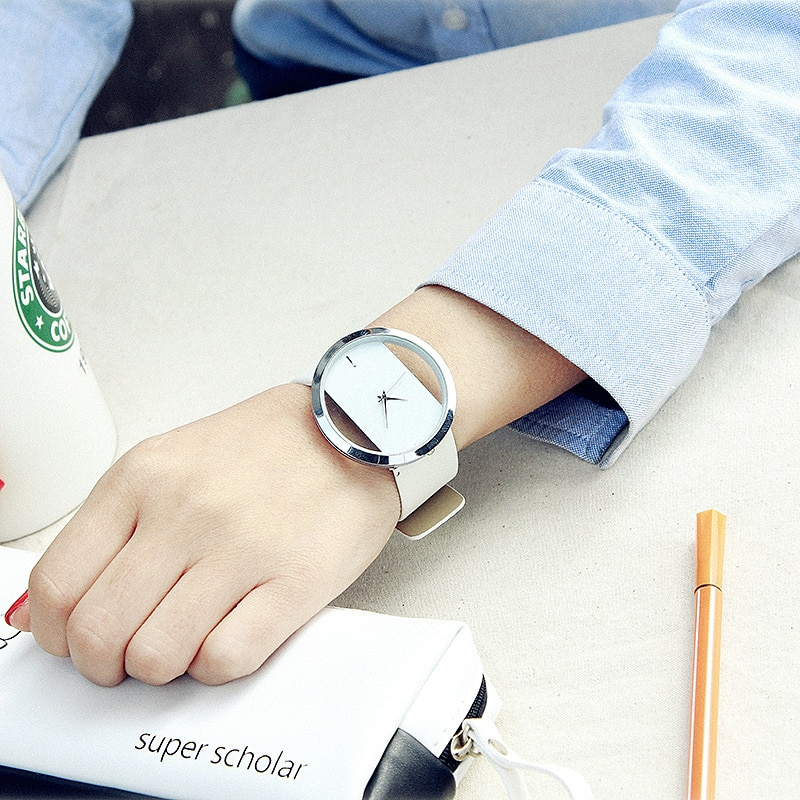 Watch Women luxury Fashion Casual without second hand quartz watches genuine leather strap sport Lad