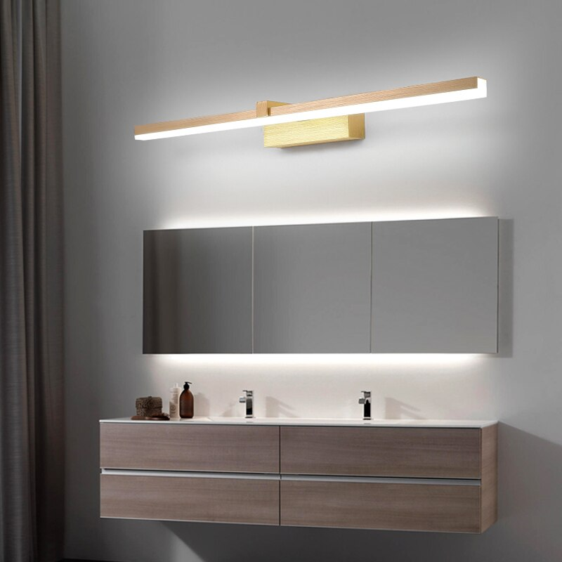 110/240V L40cm 60cm 80cm modern art decor led bathroom mirror light Brushed Gold make up Mirror lamp Washroom toilet lighting