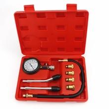 Тестер сжатия бензинового двигателя, автомобильный измеритель давления в цилиндре бензинового газового двигателя с адаптером M10 M12 M14 M18