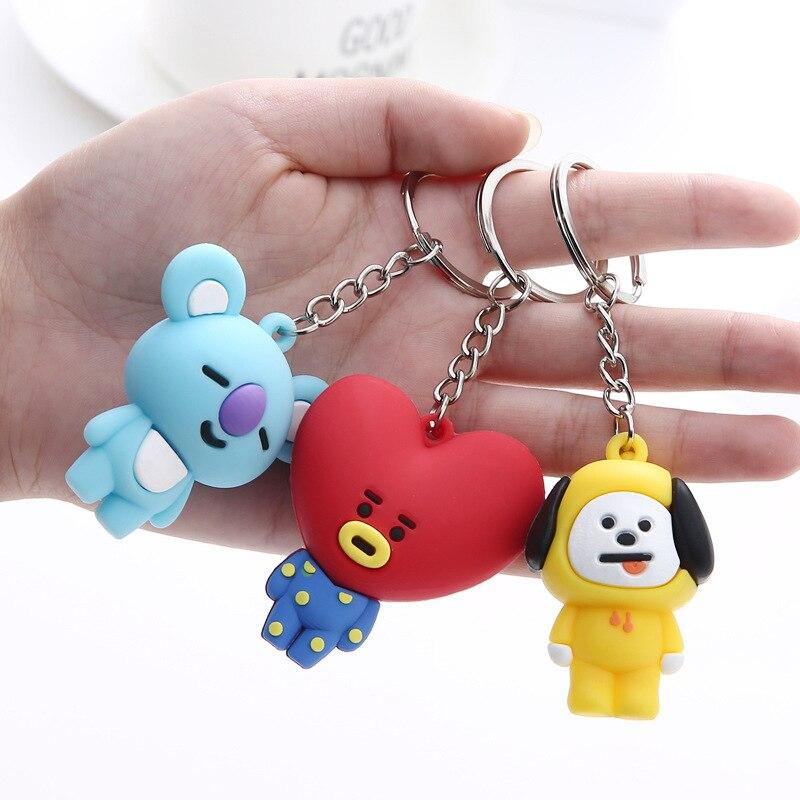 Kpop брелок bangtan брелок для мальчиков брелок кольцо кулон ювелирные изделия Аксессуары корейский мультфильм животные кролик брелок для фанатов подарок