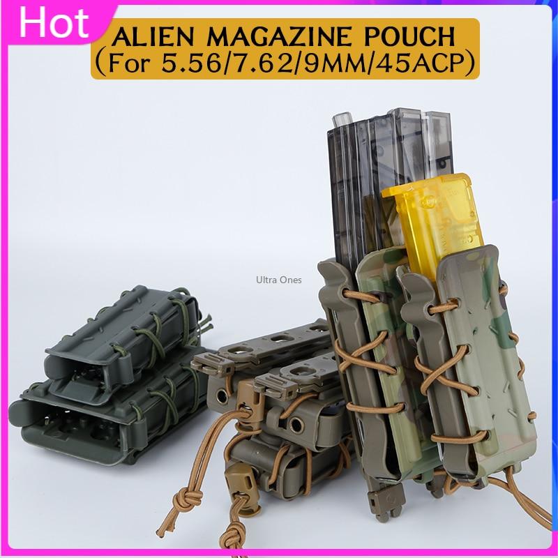 Bolsa táctica militar Mag para cinturón Molle de 5,56/7,62/9MM/45ACP, funda transportadora de fijación rápida, bolsas para revistas de Paintball Cs