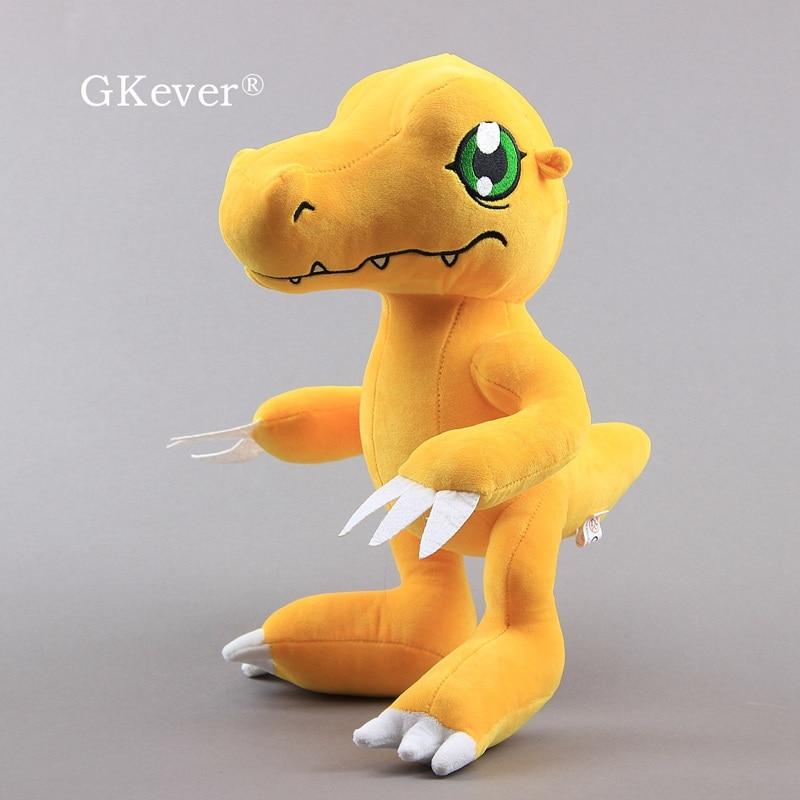 "Digimon pelúcia aventura agumon figura brinquedos macios monstro bonito animais de pelúcia 13 ""33 cm caçoa o presente"