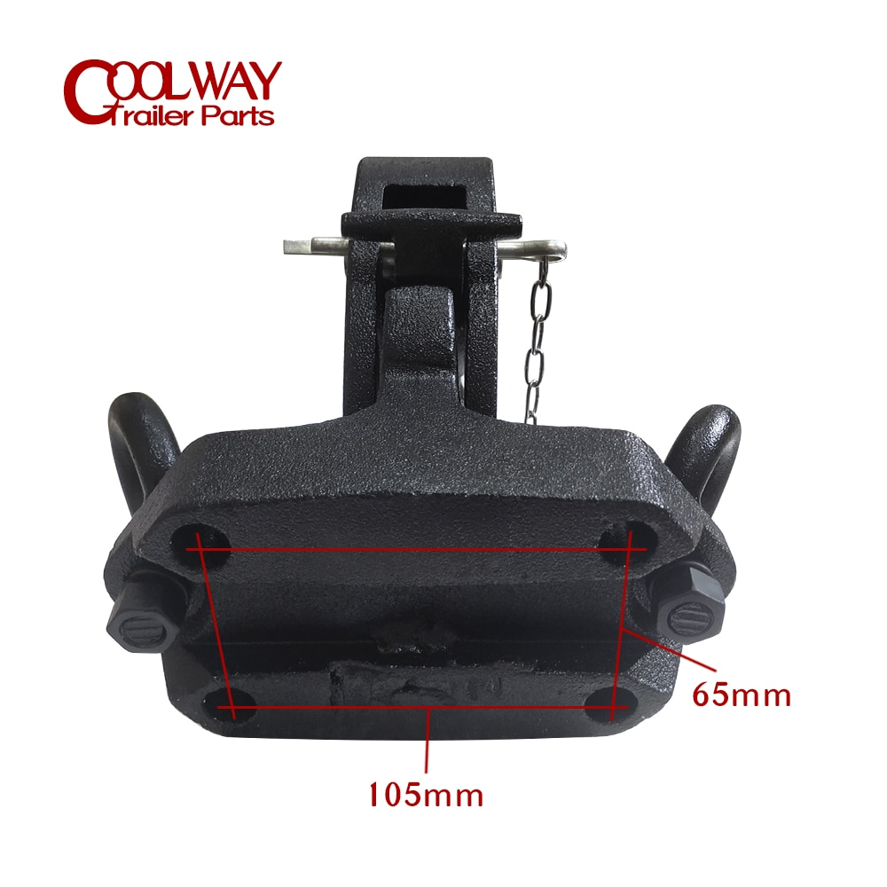 Heavy Duty Pintle Hook Combo With 2 Inch Ball Trailer Hitch Towing RV Parts Camper Accessories Caravan Components PRADO FJ150 enlarge