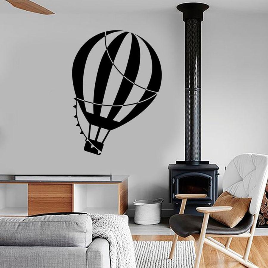 Calcomanía de fondo con globos de aire caliente, globo de aire, viaje, decoración romántica increíble para dormitorio, pegatinas de vinilo, Mural para habitación infantil S660